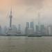 Foggy Shanghai City Centre, China