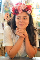 Flowers at the counter (radargeek) Tags: dayofthedead 2018 october plazadistrict okc oklahomacity badgrannysbazaar flowers portrait