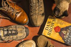 The shoes of the writer (Mario Donati) Tags: shadesofbrown smileonsaturday nikon d3100 nikkor35mm18