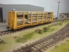 TTJX pole car (Nick Quinn's Railways and other stuff) Tags: ttx bulkhead flat american model railroad railway freight car