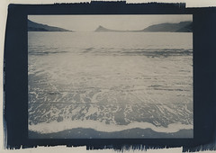 surf, pale (lawatt) Tags: surf ocean cold water árneshreppur westfjords iceland altprocess cyanotype wares toned hahnemuhleplatinumrag