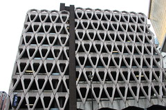Welbeck Street Car Park,15 (doojohn701) Tags: concrete 1970s brutalist building architecture sunlight sky postmodernist flourescent carpark london demolition darkness uk