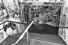 Nel mezzo del cammin di nostra vita, mi ritrovai per una selva oscura, chè la diritta via era smarrita. (drugodragodiego) Tags: inferno hell tunnel scala stair architecture blackandwhite blackwhite bw biancoenero fujifilm fujifilmx100t street