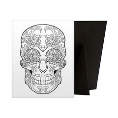 Sugar Skull - Relieve stress while creating art for your walls with a Coloring Canvas. Each piece is printed on high quality canvas and then mounted to a sturdy solid frame to ensure a comfortable surface for coloring.  Check out our website: https://spac (spaceplug) Tags: floral blackwhite art canvas shop marketplace spaceplug like buy sell like4like sugarskull followus canvasart canvasdemand skull photography follow4follow