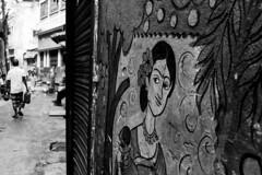 Street art (bivAsh das) Tags: paint street wall life people streetphotography dhaka bangladesh olddhaka bnw blackandwhite
