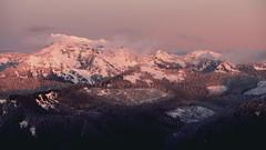 unicorn peak (ashtenphoto) Tags: unicorn peak mountains tatoosh range alepglow alpenglow pink snow
