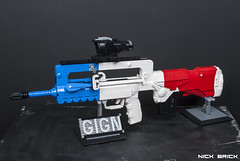 Liberté FAMAS F1 - Rainbow Six Siege (Nick Brick) Tags: lego rainbow six siege tom clancy twitch emmanuelle pichon france french gign famas p9 fnp9 rifle pistol breach charge shock drone nickbrick