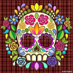 💀🌸#Sugar #Skull #Floral #Naif #Art #Mexican #Calaveras © #BluedarkArt #TheChameleonArt 👉 https://adobe.ly/2UJDoo7 💀🌸   #Licences available for #Sale 🌟  #diadelosmuertos #dayofthedeath # (BluedarkArt) Tags: thechameleonart sale art mexican diadelosmuertos ornamentalskull mexicanart decorativeskull floral sugarskull bluedarkart calaveras floralskull naif vectorillustration design licences skull illustration dayofthedeath sugar