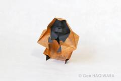 オランウータン / Orangutan (Gen Hagiwara) Tags: origami paper fplding art craft papercraft animal genhagiwara orangutan ape monkey