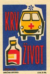czechoslovakia matchbox label (maraid) Tags: redcross czechoslovakia czechoslovakian czech matchbox label firstaid safety health medicine ambulance