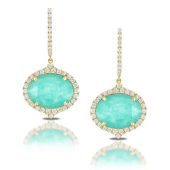 Oval 18k Yellow Gold Diamond Earring With Clear Quartz Over Amazonite (diamondanddesign) Tags: oval18kyellowgolddiamondearringwithclearquartzoveramazonite2 e6232az 18k yellow gold amazon breeze doves earrings 063 ct diamond clear quartz over amazonite front
