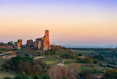 Tuscania, Central Italy (Claudio_R_1973) Tags: tower castle church ruin park historical tuscania tuscia centralitaly viterbese lazio landscape dusk sunset delicate pastel country countryside outdoor nature italia italy