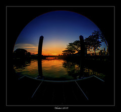 Morning Fisheye View (VERODAR) Tags: sun sunlight sunrise morning morninglight morningsky river trees nikon verodar veronicasridar