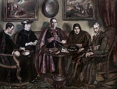 IMG_8022A Jose Gutterriez Solana 1886-1945 La visite de l'Evêque The Bishop's visit 1926 Madrid Musée Reina Sofia (jean louis mazieres) Tags: peintres peintures painting musée museum museo españa espagne spain madrid reinasofia