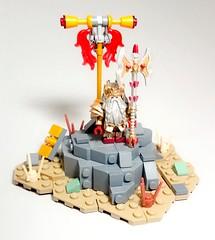 Dwarf Faction Lord: High Clan Eldd Hrothkar Silvermane (WarScape) Tags: lego warscape fantasy medieval dwarf army lord throng minifigure custom