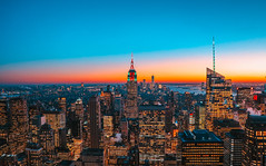 NYC (View from the Rockefeller Centre) (LeonCamilleri) Tags: new york city nyc rockefeller centre empire state building usa us united states concrete jungle sunset