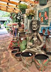 Asana - ::: Explore 3-27-2019 ::: (Trudy -) Tags: pottery fun strangeart treecarving treeart asana yogapose carving weird art nursery maas seabrook trudyledoux