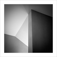 Geometria III / Geometry III. (ximo rosell) Tags: ximorosell bn blackandwhite bw buildings llum luz light arquitectura abstract squares architecture interiors