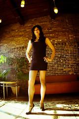 Littlest Black Dress 5 (Hannah McKnight) Tags: tgirl transgender transgirl model crossdress crossdresser stilettos littleblackdress