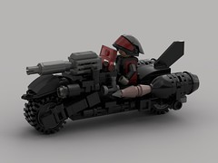 m0.5 War Bike (demitriusgaouette9991) Tags: ldd lego military army armored powerful bike vehicle future whitebackground deadly