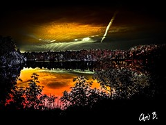 Doomsday Abstract Coloring Landscape (ChrisB_803) Tags: doomsday end pov colorful waves water pond trees bushes landscape abstract art fire armageddon colors red orange dark night pulse missle impact nature atmosphere sky bomb nuke asteroid comet outside outdoors rocket impaction doom day crater tragic beautiful background 2018 2019 new best
