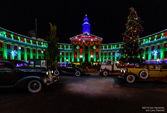 Christmas Cruising 1938 (Ken Hendricks and Larry Patchett) Tags: christmas denver colorado ddsturgeon johnmalpiede denverciviccenter mayorbenstapleton denvercityandcountybuilding danburymint 1937 studebaker dictator coupe 1931 ford usmail truck deluxe 1938 gmc car carrier franklinmint 1930 cadillac v16 imperial sedan forcedperspective 124scale diecast model cars
