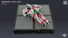 Space Police Valantis (CK-MCMLXXXI) Tags: lego moc starfighter sp2 space police ship