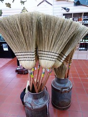 Tumut. Some of the willow brooms handmade in the Tumut broom factory which was established in 1946 and is still going. (denisbin) Tags: nsw urana soldiersmemorialhall advertising shop hairdressers broomfactory tumutbroomfactory tumutbrooms marble altar rusconi church tumutcatholic parkes courthouse parkescourthouse