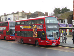 SLN 13022 - BG14ONT - PLUMSTEAD ROAD WOOLWICH - FRI 11TH JAN 2019 (Bexleybus) Tags: woolwich royal arsenal town centre shopping plumstead road beresfod street se18 tfl route stagecoach london selkent 96 hybrid volvo wrightbus gemini 13022 bg14ont