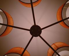22/365 Look up (Árni Svanur Daníelsson) Tags: ceiling lights frombelow orange pink chandelier light