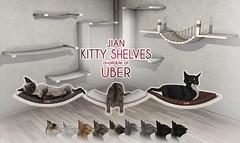 JIAN Kitty Shelves (Uber Jan '19) ([JIAN]) Tags: secondlife mesh cats kitties kitty cat animal animated jian home decor