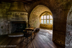 Castle Window (Holfo) Tags: nationaltrust chirk chirkcastle arch nikon d750 hdr table arched room old fireplace heritage story stone