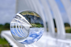 Te Rewa Rewa Reflected (Russ Dixon Photography) Tags: russdixonphotography newzealand newplymouth taranaki reflection terewarewabridge lensball crystal ball fujixt3 abstract