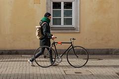 Love my bike (picsessionphotoarts) Tags: bayern bavaria deutschland germany franken franconia nikon nikonphotography nikonfotografie nikond850 festbrennweite primelens streetportrait downtown afsnikkor85mmf18g streetphotography moments snapshot schnappschuss unterfranken würzburg fahrrad bicycle