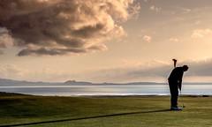 My good man...xx (shona.2) Tags: dramatic atmospheric moody arthur'sseat northsea estuary firthofforth ocean sea gullanehill gullanegolfclub eastlothian scotland golfer golf goldenhour bigskies sky cloud