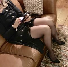 MyLeggyLady (MyLeggyLady) Tags: hot blond feet toes cleavage sex cfm garterbelt nopanties upskirt hotwife milf sexy secretary teasing minidress stockings suspender thighs pumps leather stiletto legs heels