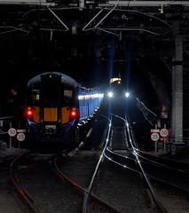 Points of Light (whosoever2) Tags: uk united kingdom gb great britain scotland nikon d7100 train railway railroad february 2019 glasgow queenstreet tunnel class385 385033 385117 385124 edinburgh hitachi