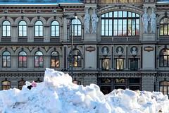 Pile of snow (jannekoivunen) Tags: helsinki finland suomi ateneum art museum city snow pile winter daylight building nikon d3300 sigma sigmalens 18200