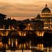 Saint Peter's Basilica and Light Reflections