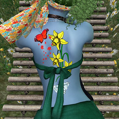 3_8_19 Springtime Diamond w_ Monarch back (Justine Flirty) Tags: artisanna tattoo fantasy flowers