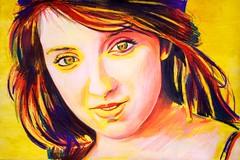 Almost Kat (Skyler Brown Art) Tags: kataltman art artwork beautiful beauty coloredpencil colorful drawing female girl hair happy light paint painting paper people portrait pretty redhair smile warm woman