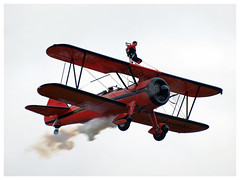 46 Aviation Wingwalker Danielle (Aerofossile2012) Tags: 46 aviation wingwalker danielle emiliano stearman aircraft meeting airshow laferté 2017 people