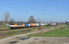 Rail Force One 1837 & 1018, Heukelom, 22-3-2019 (Derquinho) Tags: 1800 1600 rfo 1837 oisterwijk rail force one 1 railforce nez cassé casse heukelom locon lc 9903 63122 blerick cabooter kijfhoek