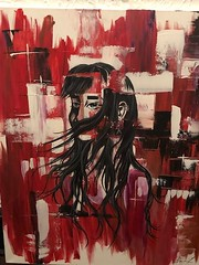 Painting 10.1 (dhdyksterhouse) Tags: abstract art painting acrylic woman empowerment red black face discovery artist women self love