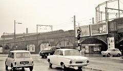 Manchester in the rain (Lost-Albion) Tags: manchester austinmini fordcortina austina40 1966