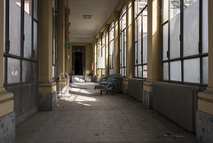 Abandoned Hospital (Camera_Shy.) Tags: derelict hospital ospedale exploring disused abandoned exploration road trip explorer urban medical dark shadow light wheelchair explorers abandonment europe decay nikon decayed decaying forgotten urbex d810 creepy building italia italy