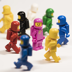 there's a new face in the crowd (Jezbags) Tags: spaceman spacemen lego legos toy toys legomovie2 macro macrophotography macrodreams macrolego canon canon80d 80d 100mm pink face