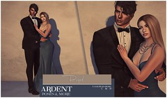 Ardent Poses - Poised Ad (Ardent Poses) Tags: secondlife second life sl avatar 2nd 2ndlife avi virtual vr 3d inworld poses pose ardent photography people exclusive avatars event love couple couples release new hold broderick logan ena roane enaroane bento advertisement sidewalk sale ardentposes