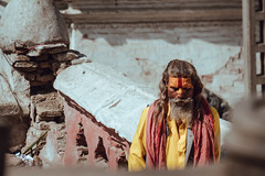 One Wise man (danielhibell) Tags: kathmandu nepal travel asia discover explore world street streetphotography people religion culture ambience mood buddhism hinduism colour light praying moving special