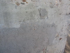 Civil War fortifications, turret detail , Parque del Oeste, Madrid (d.kevan) Tags: parksandgardens parquedeloeste madrid turrets fortifications concrete civilwar detail inscriptions